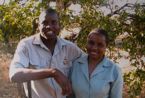 Rodgers Hobyane and Elina Mona, Tsendze camp, Kruger National Park