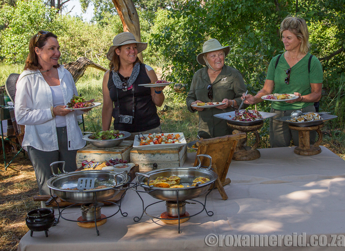 Bush breakfast, Xigera Camp, Okavango