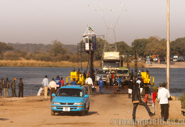 Zambezi ferry between Botswana and Zambia
