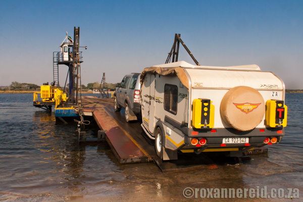 Ferry over the Zambezi between Zambia and Botswana