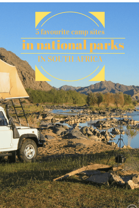 5 favourite campsites in South African national parks #SouthAfrica #nationalparks #camping