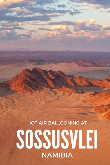 Hot air ballooning at Sossusvlei, Namibia, Southern Africa
