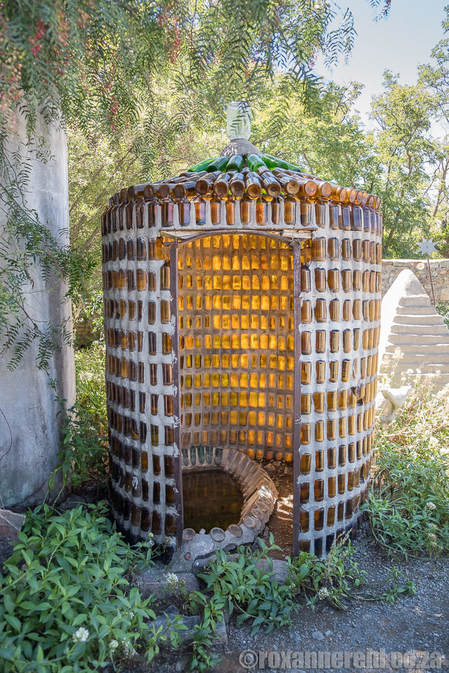 Glass-and-cement structure, Helen Martins Owl House