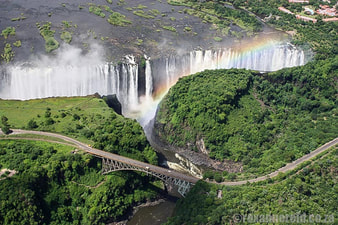 Things to do in Africa :fly over Victoria Falls