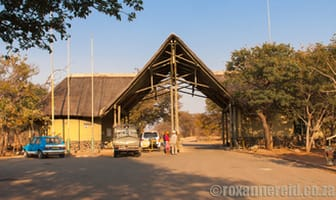 Entrance gate, Chobe National Park, Botswana