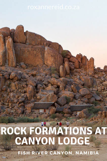 Rock formation at Canyon Lodge, Fish River Canyon #Namibia #travel #Africa