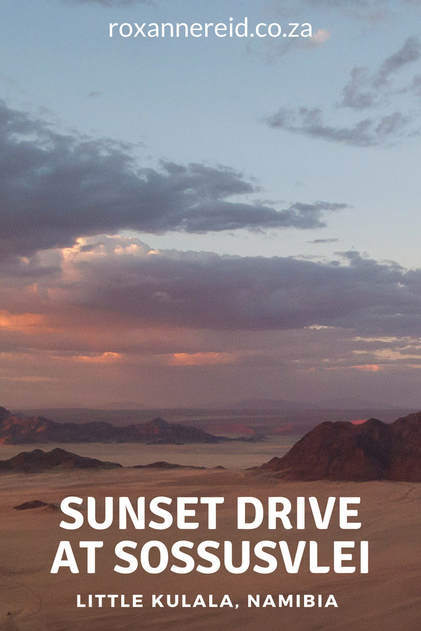 Sunset drive from Little Kulala Camp near Sossusvlei #Namibia #travel #Africa