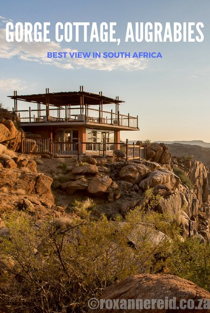 Gorge Cottage in Augrabies Falls National Park, South Africa, has wonderful views of the Orange river gorge