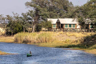 Chobe River Camp on the opposite bank to Chobe National Park