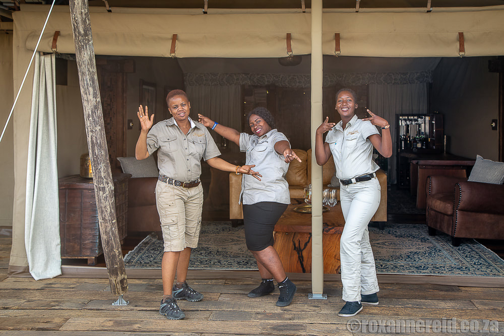 Staff at Mpala Jena, one of the Victoria Falls lodges