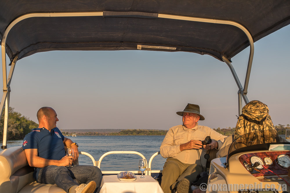 Boat cruise on the Zambezi River, Victoria Falls activities Zimbabwe