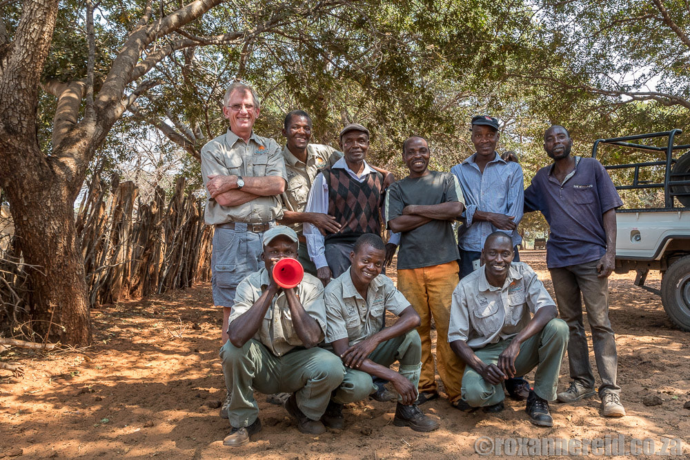 Victoria Falls Wildlife Trust working with community guardians and mobile bomas to cut human-wildlife conflict in Victoria Falls Zimbabwe