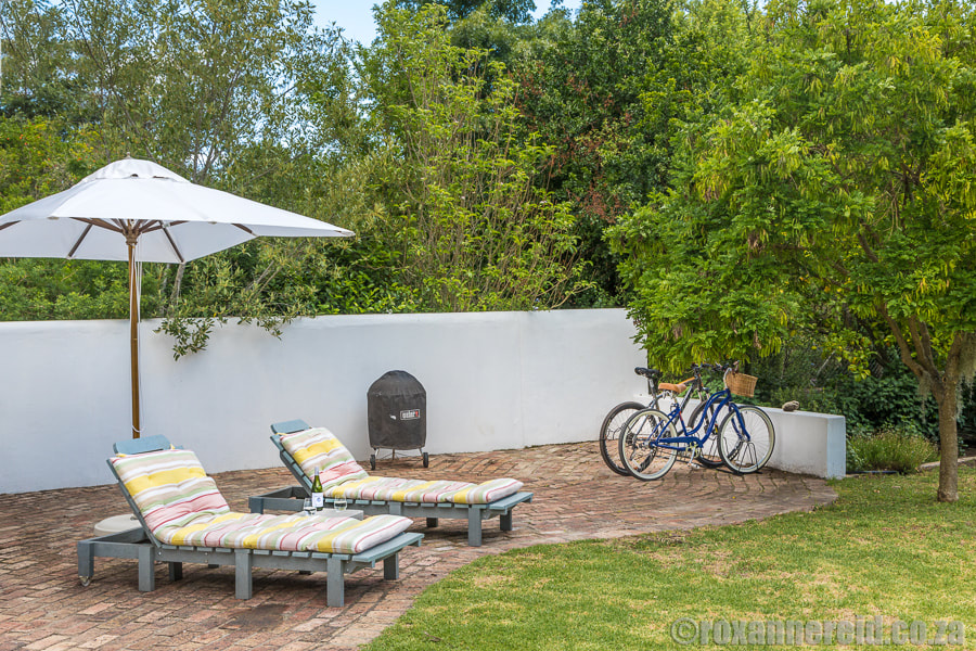 Sun patio at The Earthy Inn, Greyton, Overberg