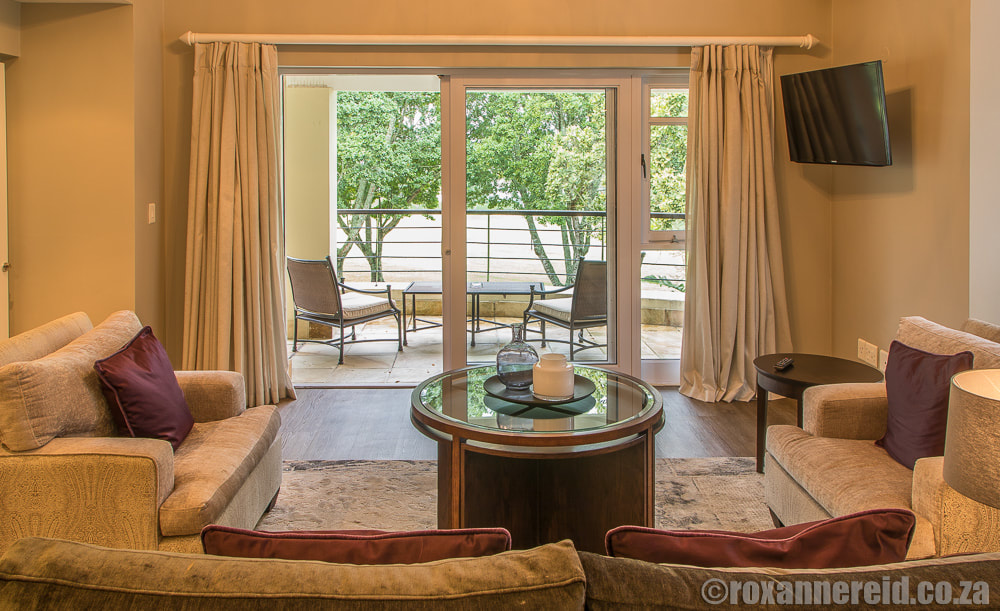Fancourt Hotel, George accommodation - living room of the suite