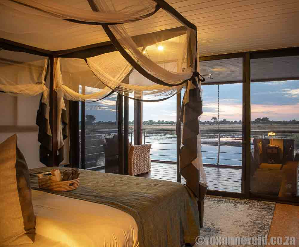 View of the Kwando River from Namushasha River Villa, Zambezi, Namibia