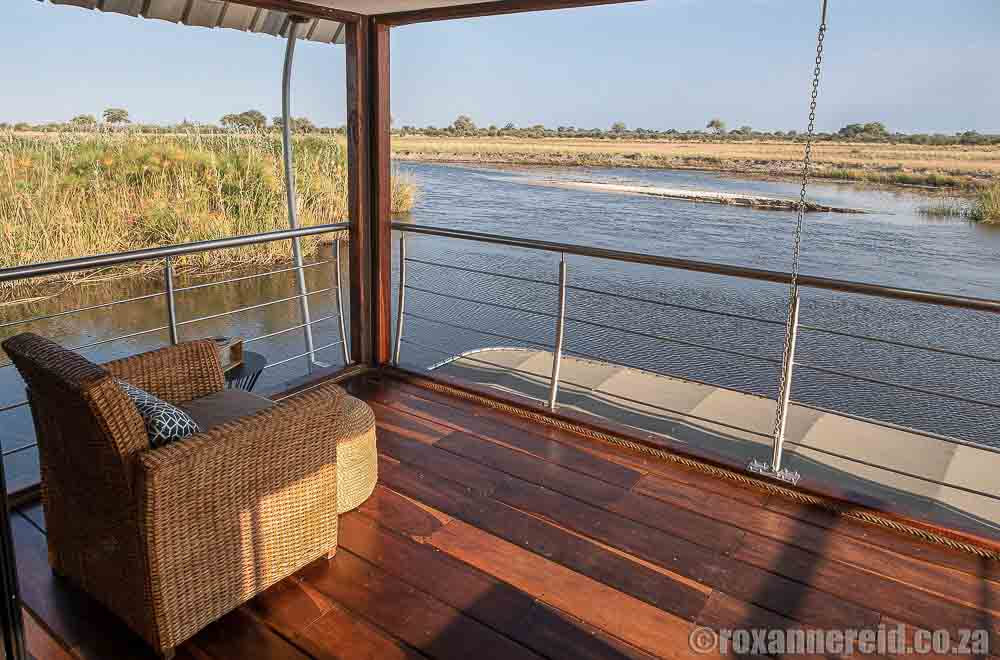Caprivi lodges: view from Namushasha River Villa, Namibia