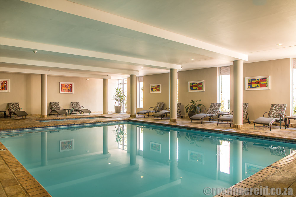 Indoor swimming pool at Fancourt Hotel