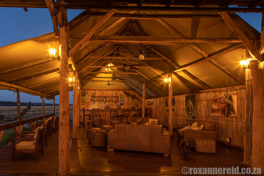 Bar and lounge at this Caprivi accommodation, Chobe River Camp