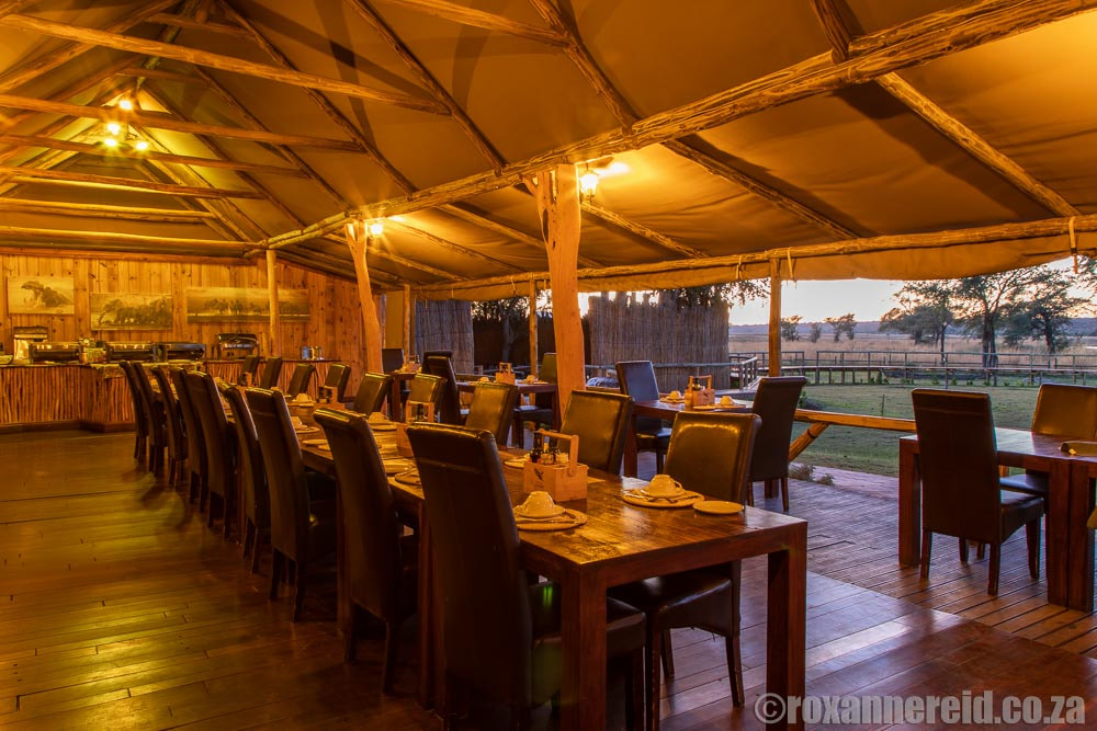 Dining area at Chobe River Camp, Namibia