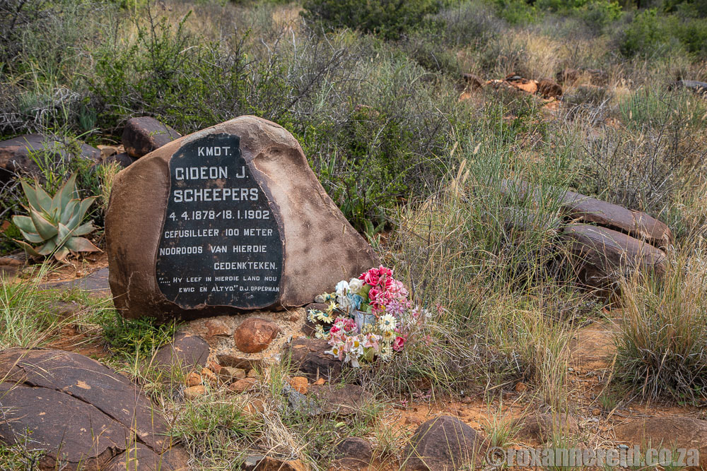 Gideon Scheepers monument on the hiking trail, Camdeboo National Park