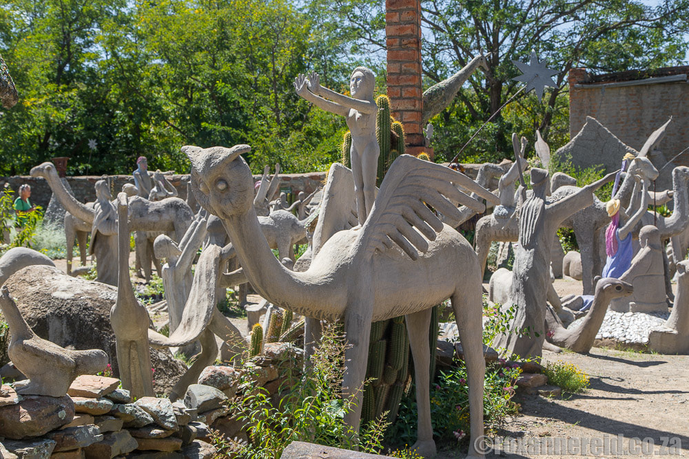 Outsider art at Helen Martins Owl House and Camel Yard, Nieu Bethesda