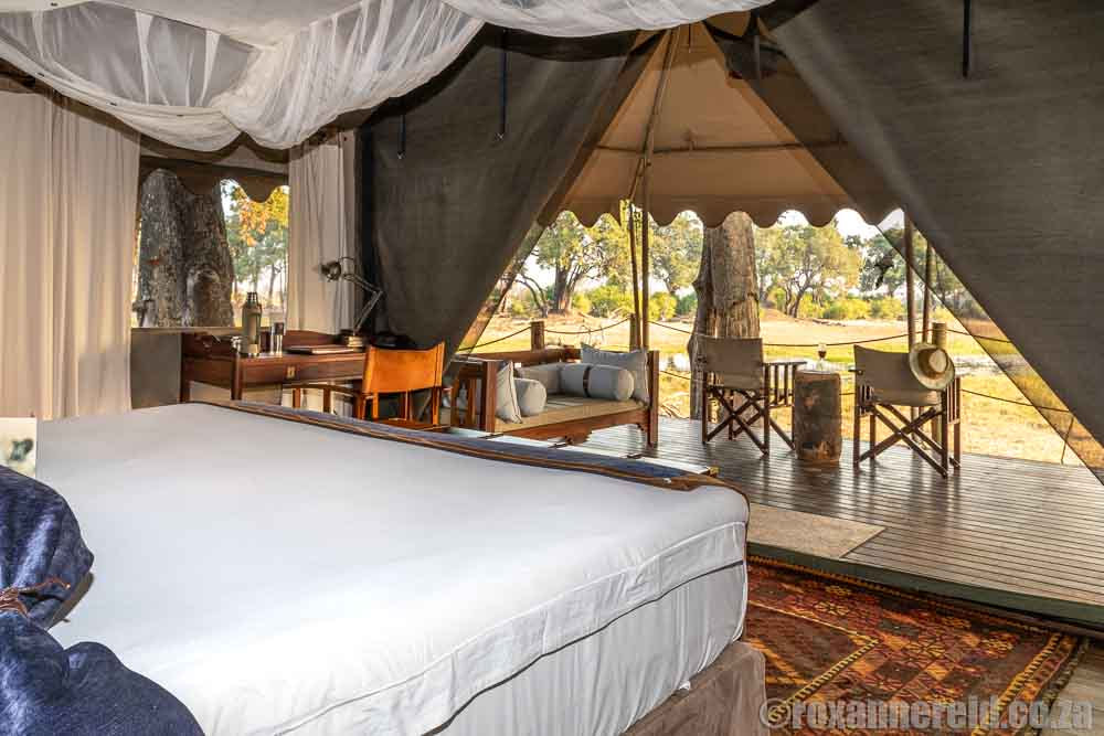 Camping Botswana with a difference: your tent at Duba Explorers Camp