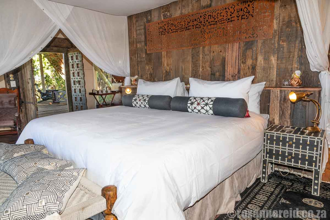 Bedroom suite at Selinda Camp, Selinda Reserve, Botswana
