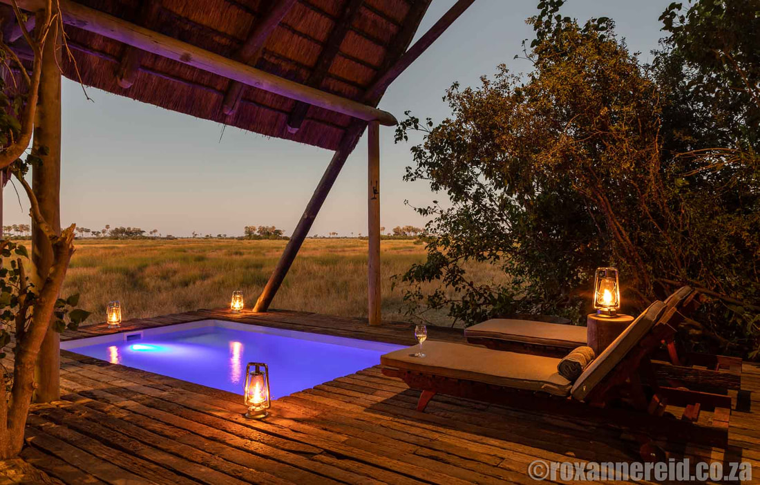 Private pool at your suite, Selinda Camp, Botswana