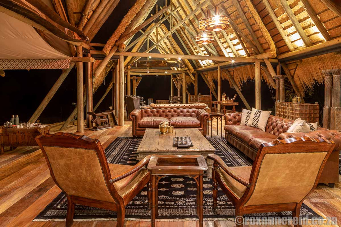 Lounge area, Selinda Camp, Botswana