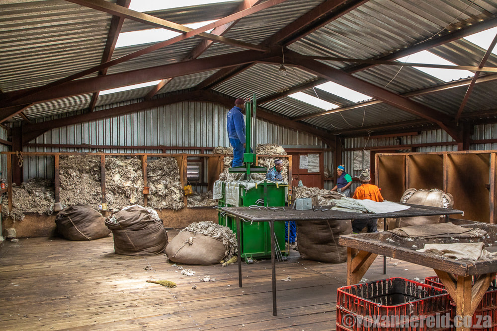 Wool shed at Semonkong