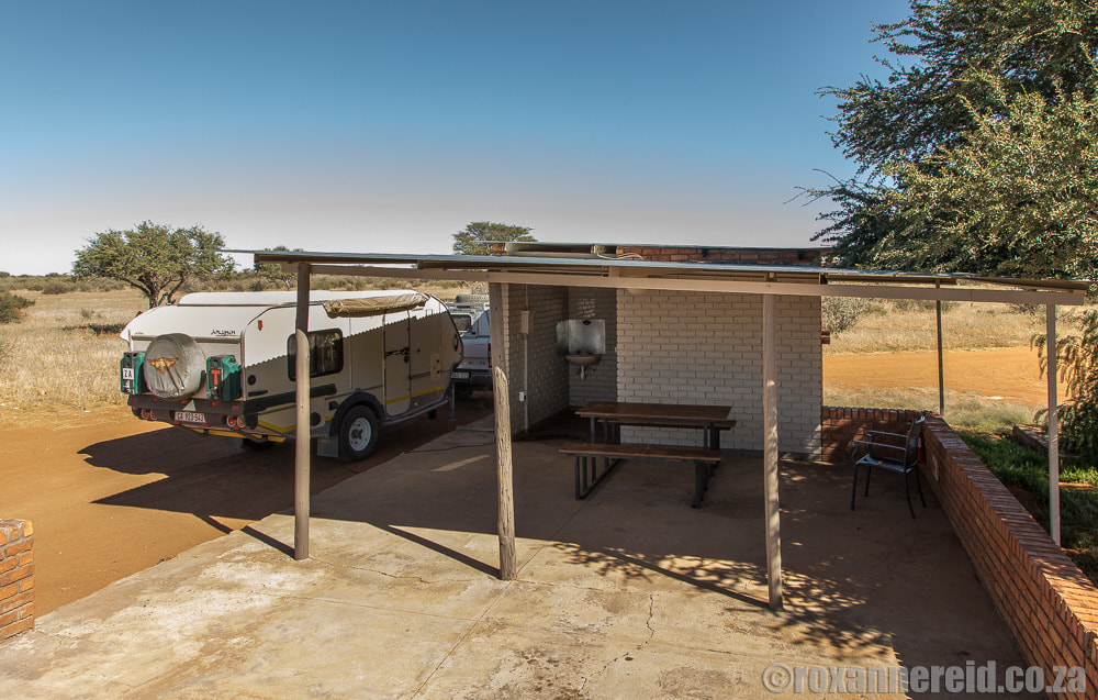 Campsites Namibia: Kalahari Anib Lodge campsite near Mariental