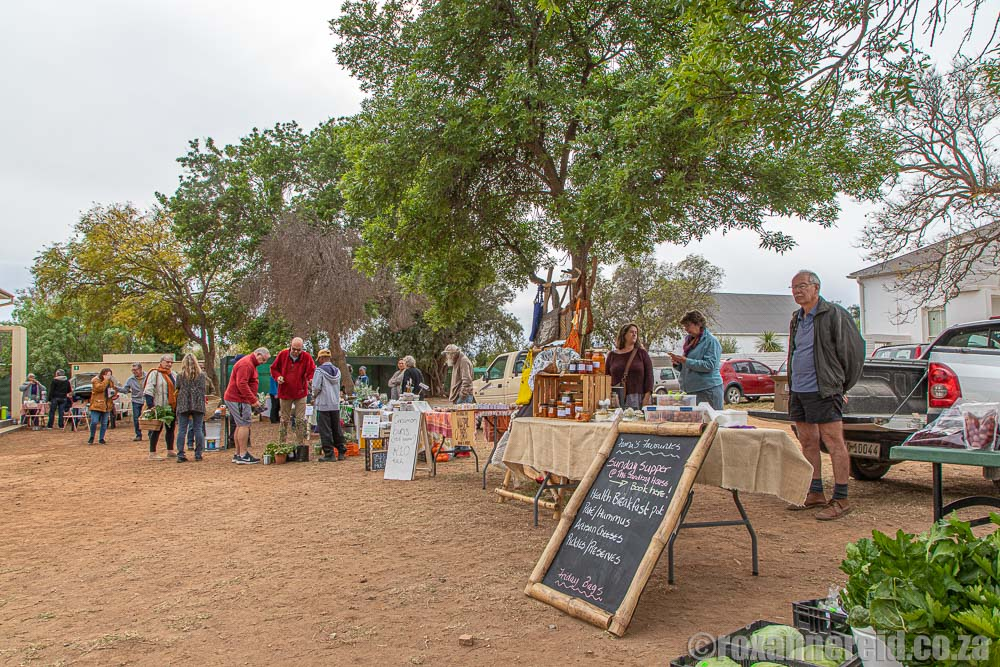 Saturday Morning Market in McGregor in the Robertson valley
