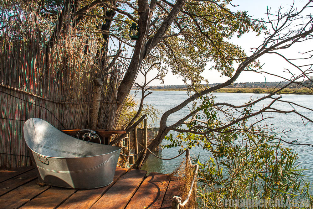 Namibia campsites: Ngepi Camp near Divundu, Zambezi
