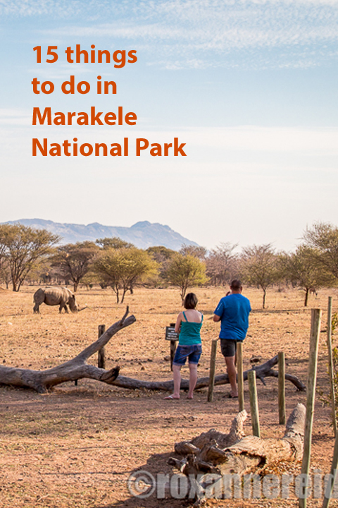 15 things to do in Marakele National Park. Author of A Walk in the Park (about road tripping around South Africa's national parks) shares her hints. Find it on Amazon https://www.amazon.com/gp/product/B017ZZ56SI/