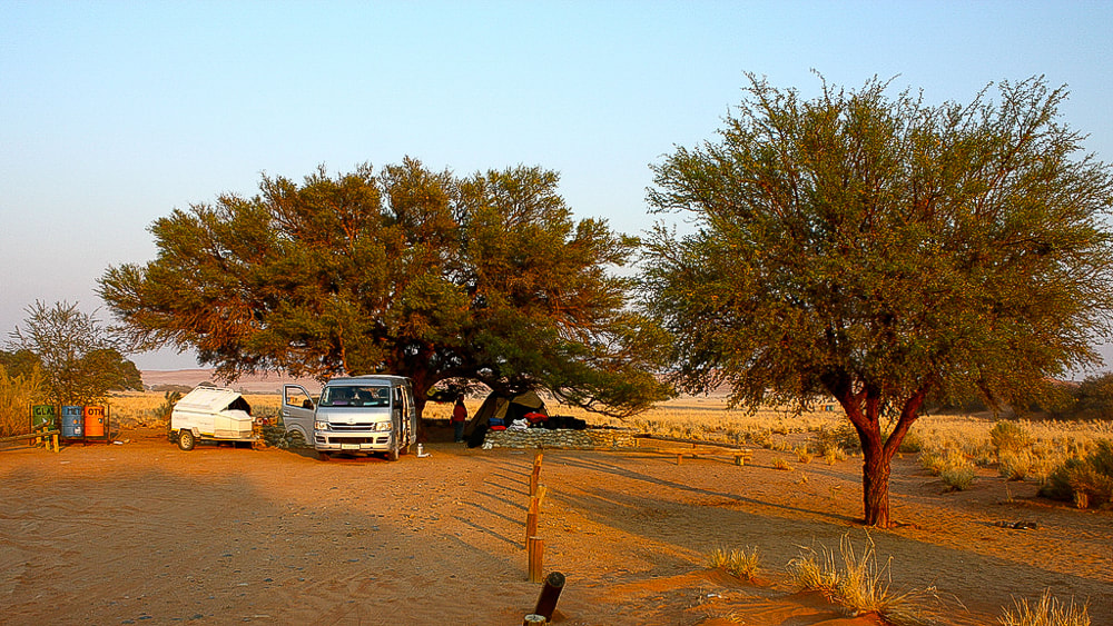 Sesriem campsite: Sossusvlei the slow travel way, Namibia