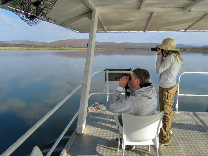 Boat cruise at Pongola Game Reserve