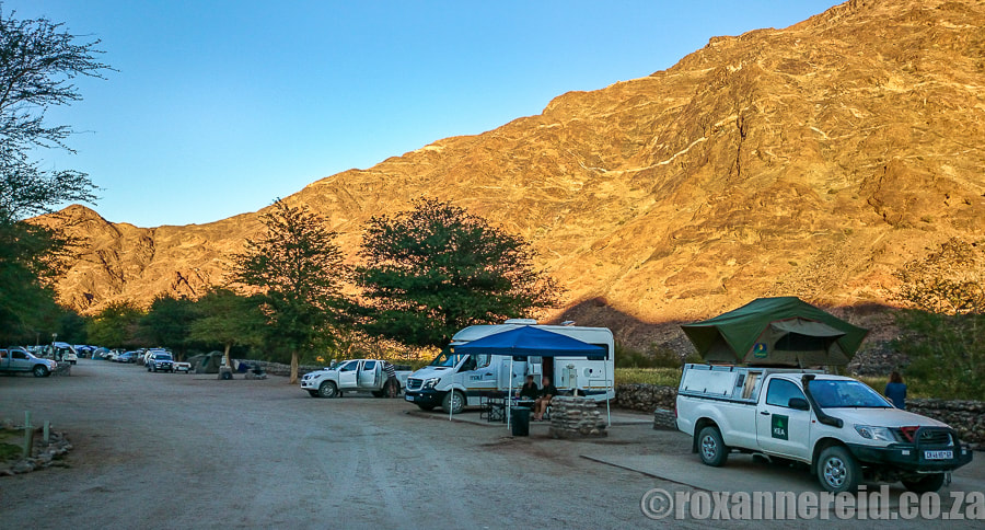 5 campsites in Namibia: Ai-Ais Resort's campsite at the Fish River Canyon, southwest Namibia
