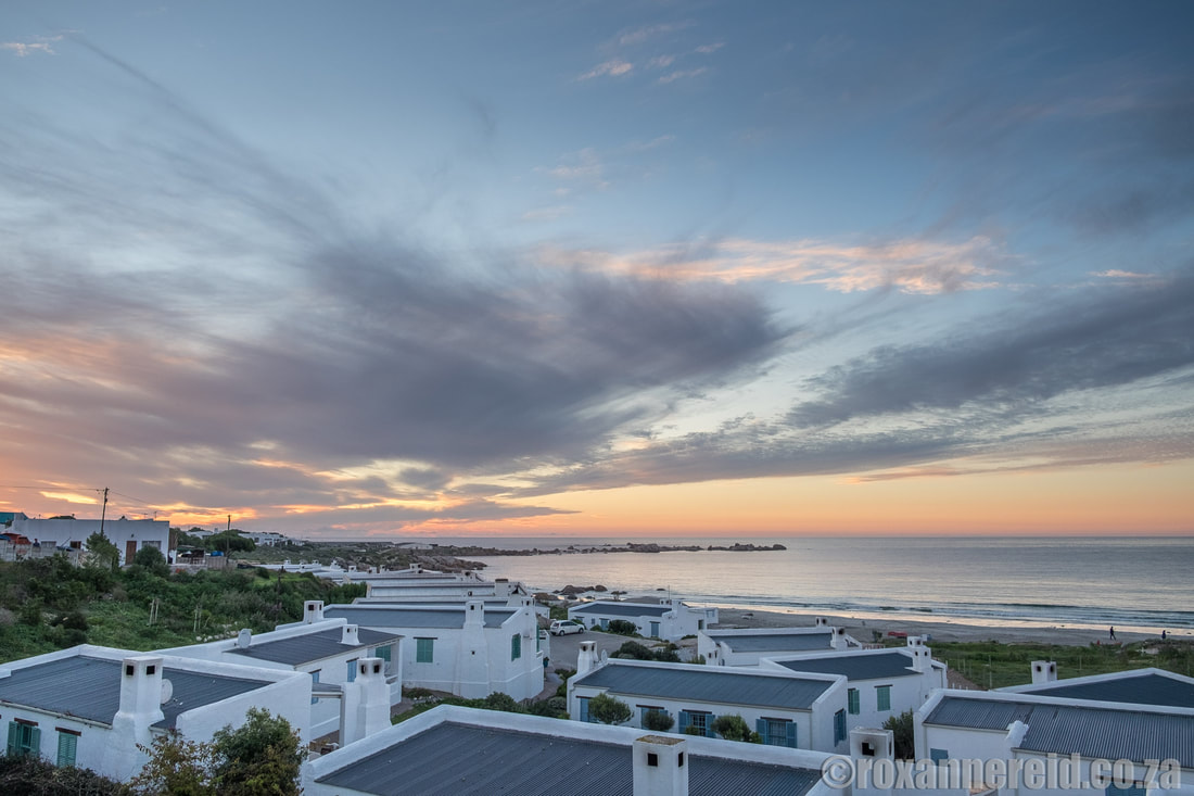 Paternoster beach at sunset