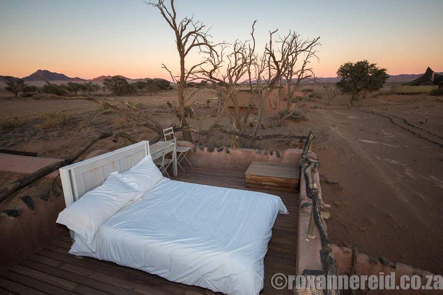 Special places to stayL Little Kulala starbed, Sossusvlei, Namibia