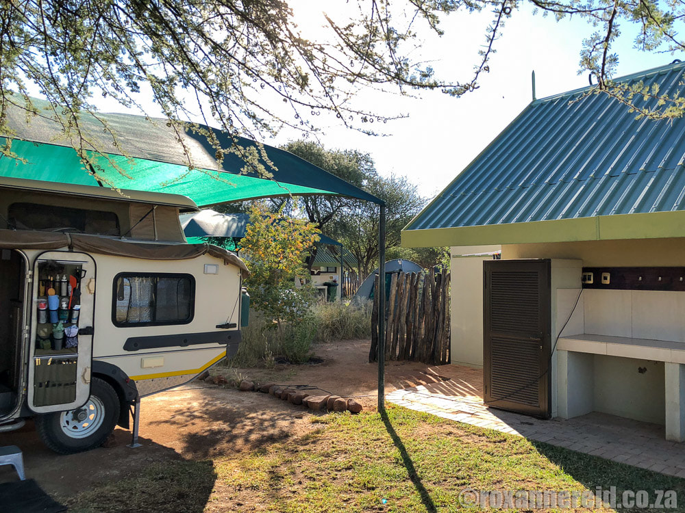 Namibia camping: Camp Elephant, Erindi Private Reserve