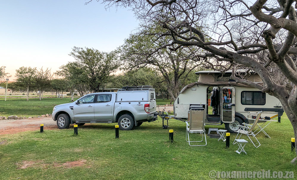 Campsites in Namibia: Sophienhof Lodge's campsite near Outjo