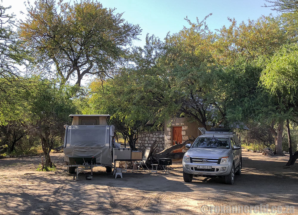 Camping Namibia: Leadwood campsite outside Etosha National Park