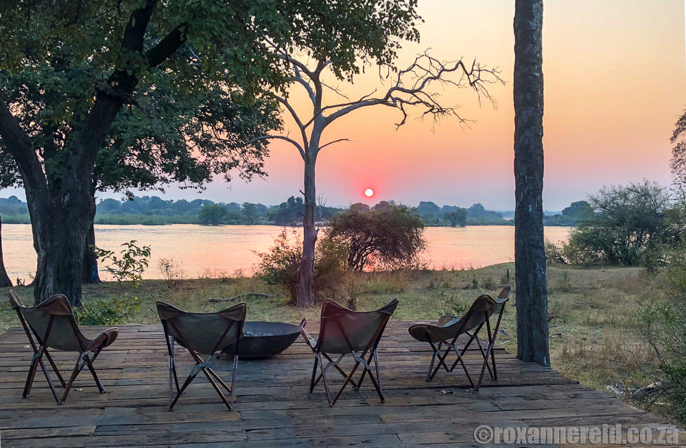 Sunrise over the Zambezi River from Mpala Jena, Victoria Falls, Zimbabwe