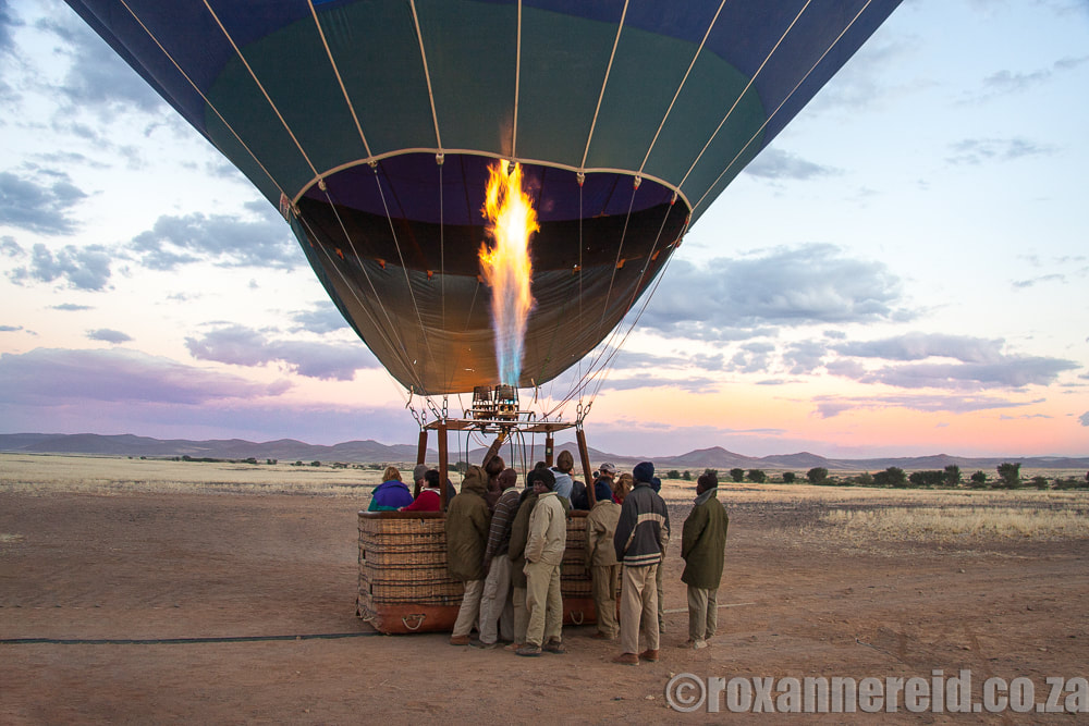 Hot air balloon at Sossusvlei, Namibia