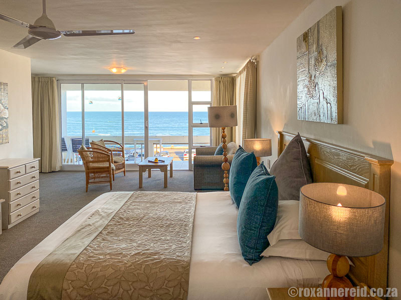 Sea-facing room at the Arniston Hotel