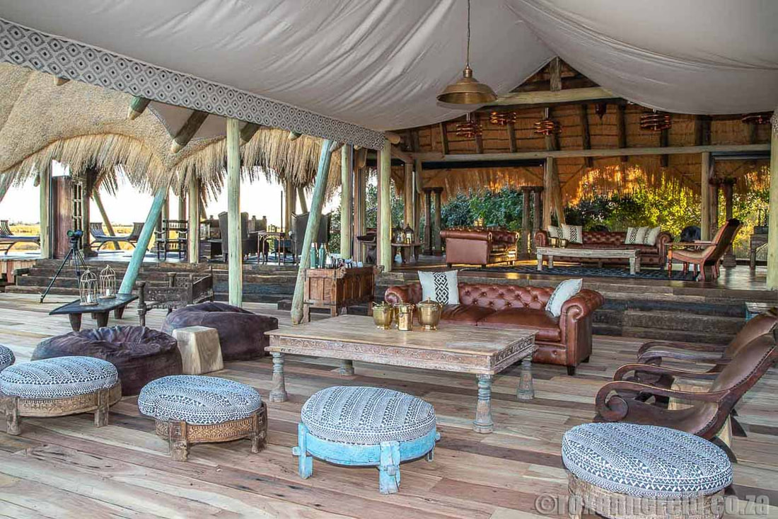 Luxury at Selinda Camp, sister camp to Zarafa Camp, both Linyanti lodges