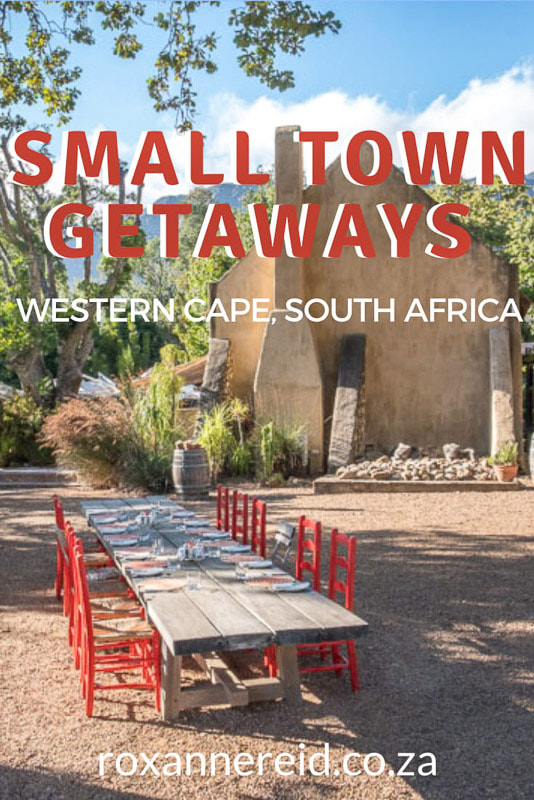 Looking for small towns for weekend getaways from Cape Town? Discover 20 of the best in the Cape Winelands, Garden Route, Karoo, Overberg and West Coast. Find out what makes each small town special and what you can do there. They include Franschhoek, McGregor, Tulbagh, Wilderness, Barrydale, Matjiesfontein, Prince Albert, Greyton, Hermanus, Stanford, Swellendam, Paternoster, Yzerfontein and Riebeek Kasteel and seven more small towns for weekend getaways in the Western Cape.