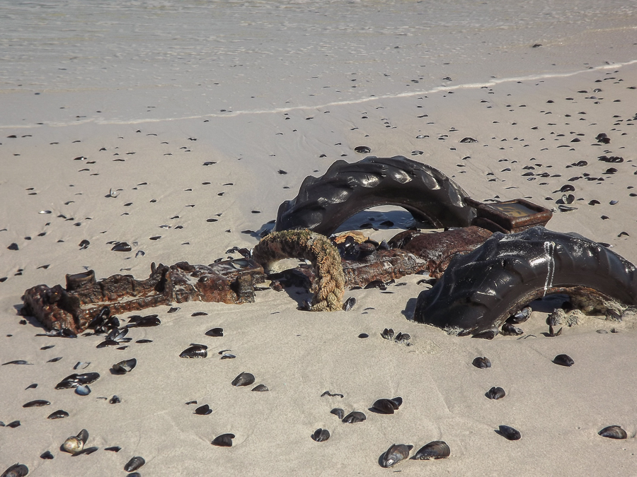 Buried tractor, Yzerfontein, West Coast